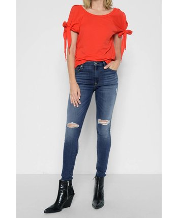 7 For All Mankind The Ankle Skinny B(air) in Vintage Dusk