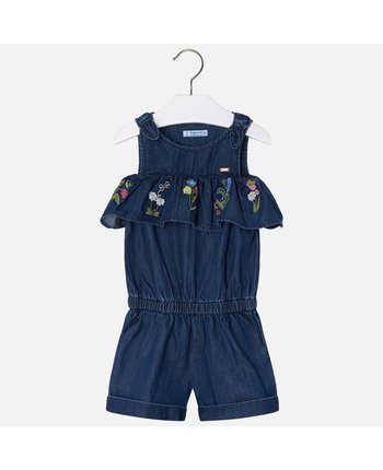 Mayoral 3802 Embroidered Romper