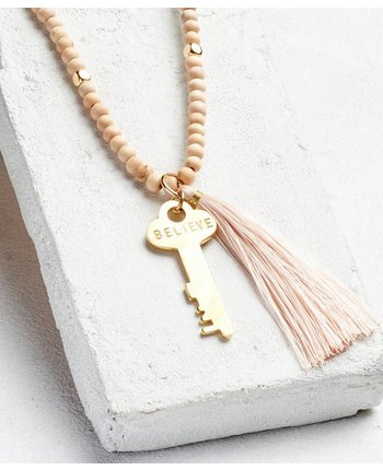 The Giving Keys Inspiration Bead Key Necklace w/Tassel [more colors...]