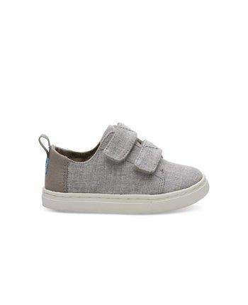 TOMS Lenny Grey Chambray Kids Sneaker