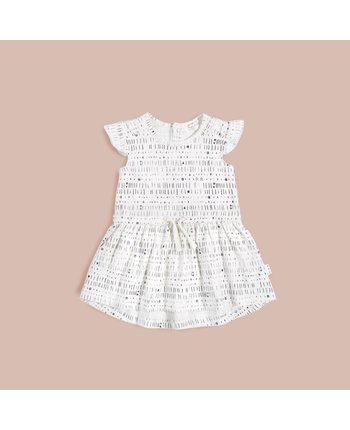 Miles Baby 'Miles to Go' Girls Knit Dress