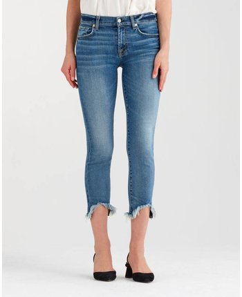 7 For All Mankind Roxanne Ankle Wave Hem Skinny