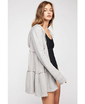 Tiered Trapeze Zip Up