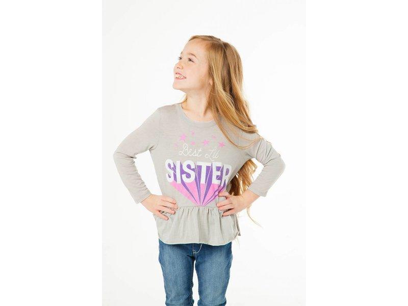 Chaser Best Lil Sister Peplum Tee