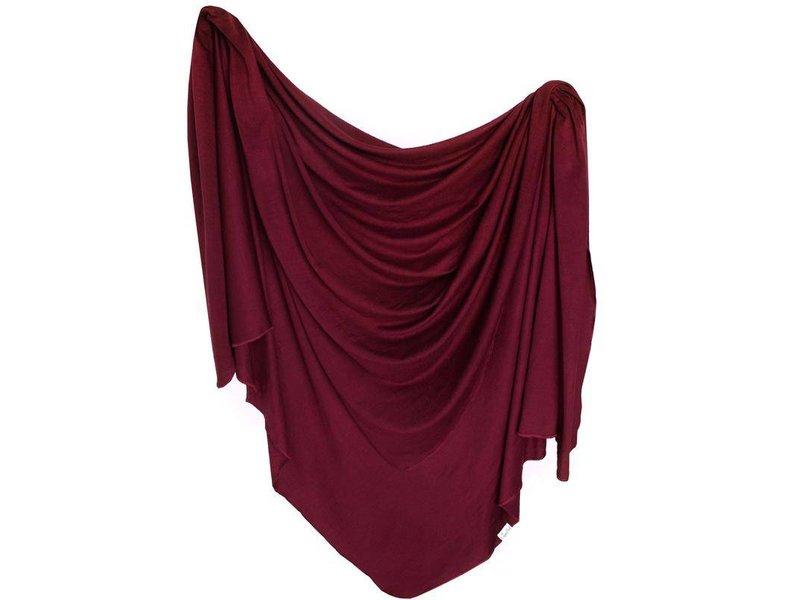 Copper Pearl Ruby Knit Blanket