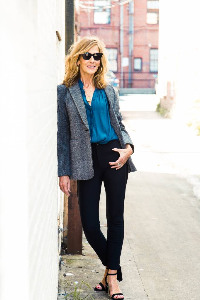 SHOP THE LOOK Herringbone Blazer