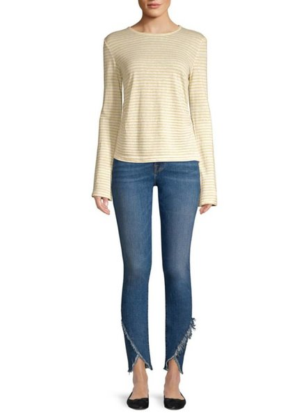 FRAME SHIRRED BELL TEE