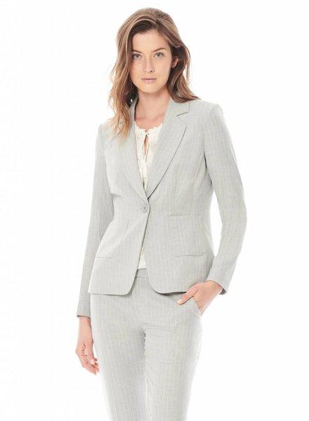 ECRU Pinstripe Suiting Blazer