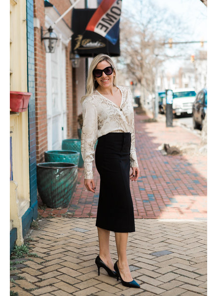 ISABEL DE PEDRO High Waist Pencil Skirt