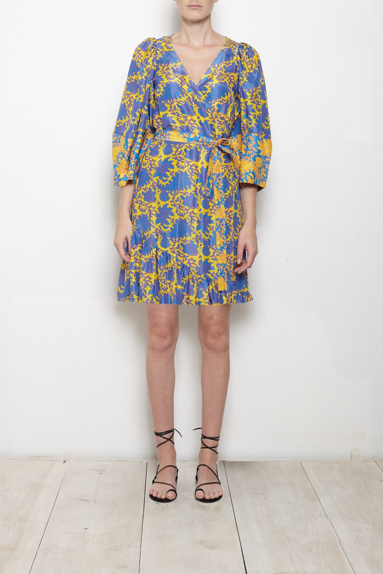 APIECE APART Short Bouganvillea Meru Sleeve Dress