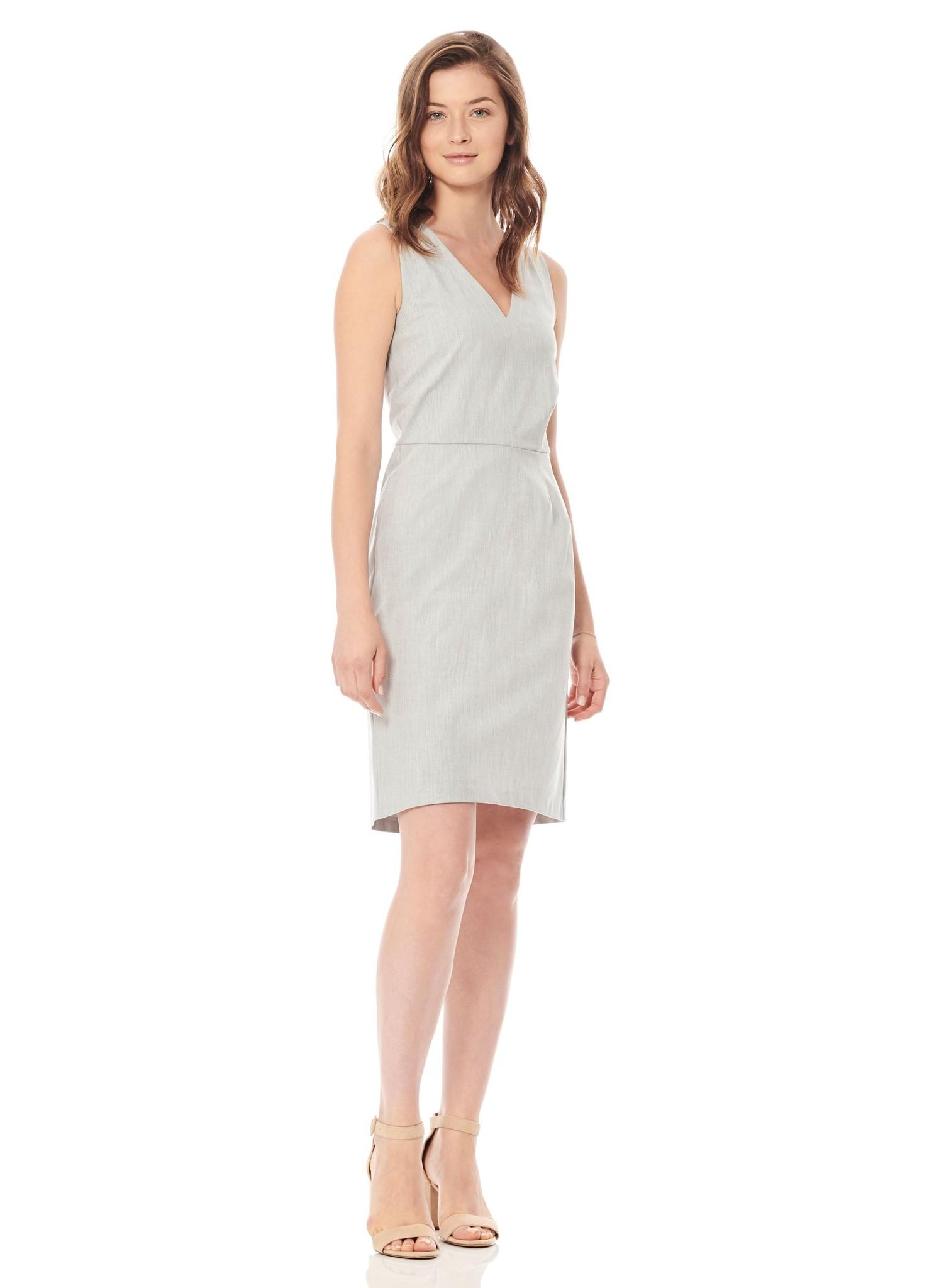 ECRU Contrast Stitch Dress
