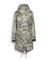 Creenstone Camo Print Long Coat