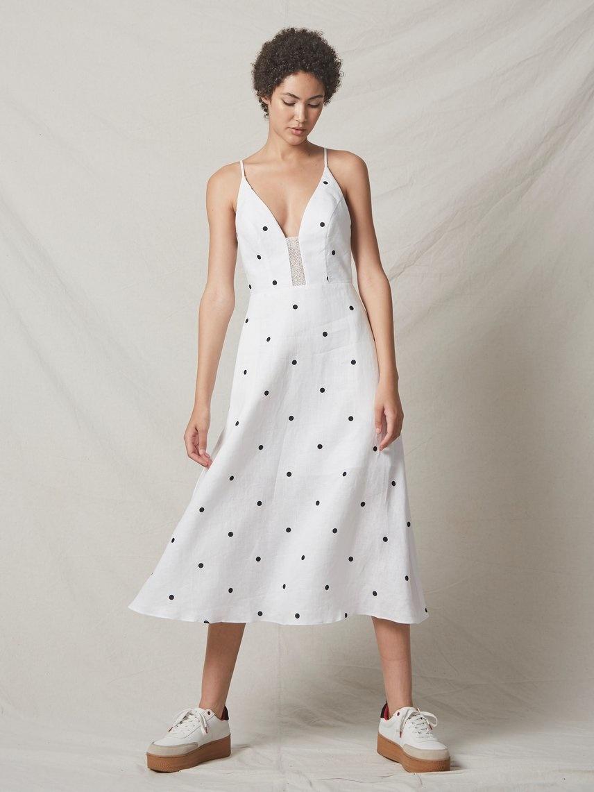 ALLEN SHWARTZ Roksanna Midi Dress