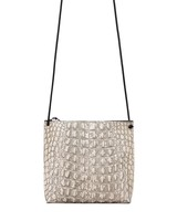 B.May Strappy Pouch Bone Embossed Croc