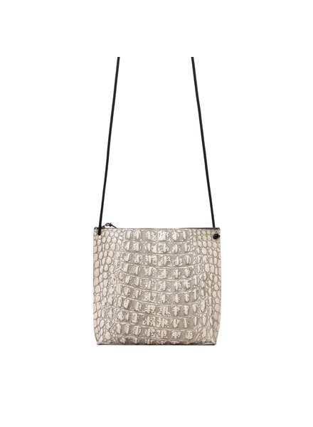 da5d3790525a B.May Strappy Pouch Bone Embossed Croc