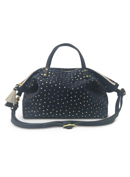b315480b6b01 ... Striped Urban Beach Tote - Silver/Black. $395.00. Add to cart ·  KEMPTON&CO Navy Suede Gold Foil Stars Devon Holdall