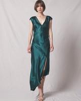ALLEN SHWARTZ Desiree Open Back Dress