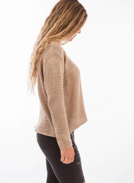 TSALT Lucie Sweater Taupe S/M
