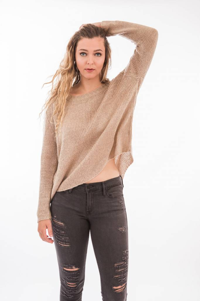 TSALT Lucie Sweater Taupe S/M