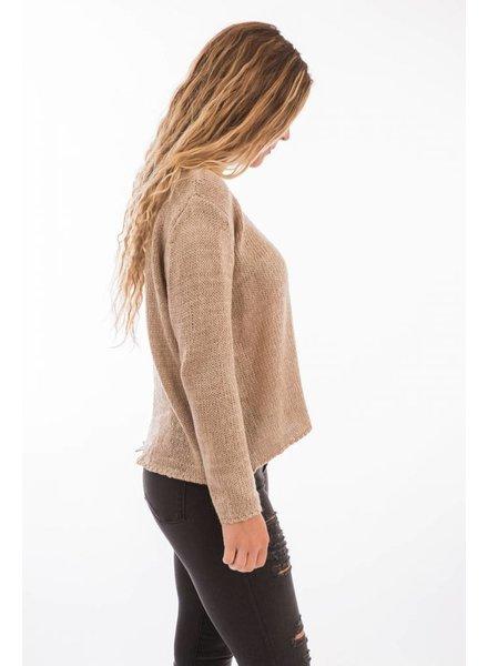 TSALT Split Back Sweater