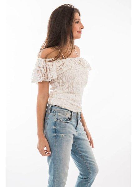 TSALT Lace Top Ivory  M