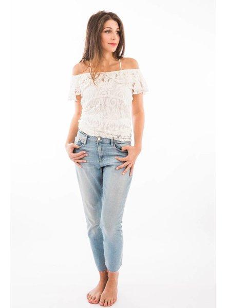 TSALT Lace Top Ivory  S