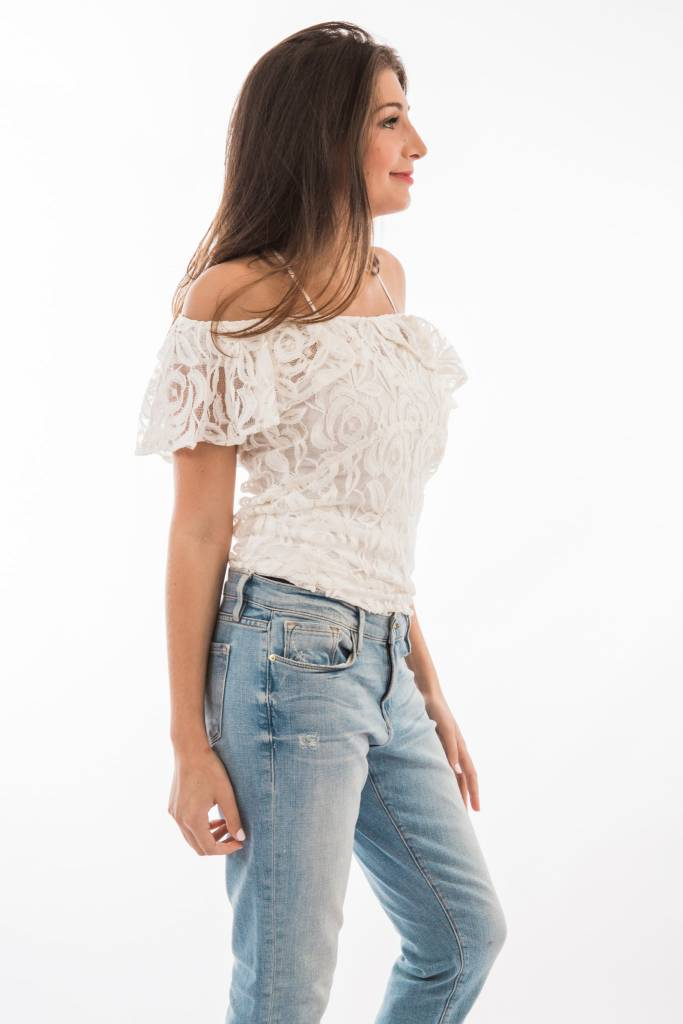 TSALT Lace Top Ivory L