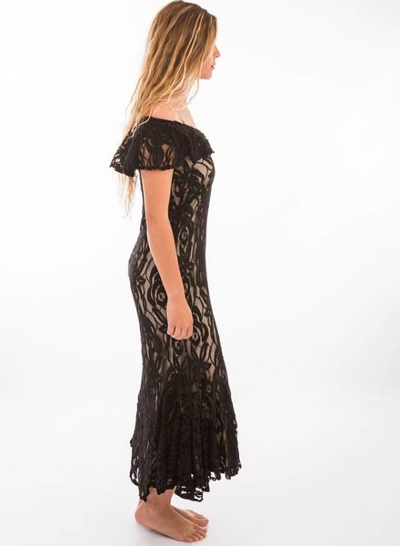 TSALT Lace Dress Black M