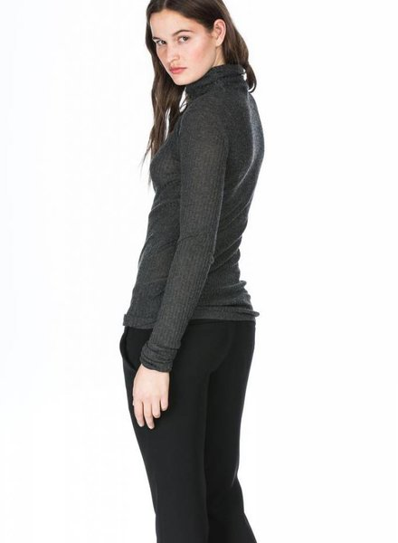 LEO & SAGE Knit Layer Ribbed Turtleneck