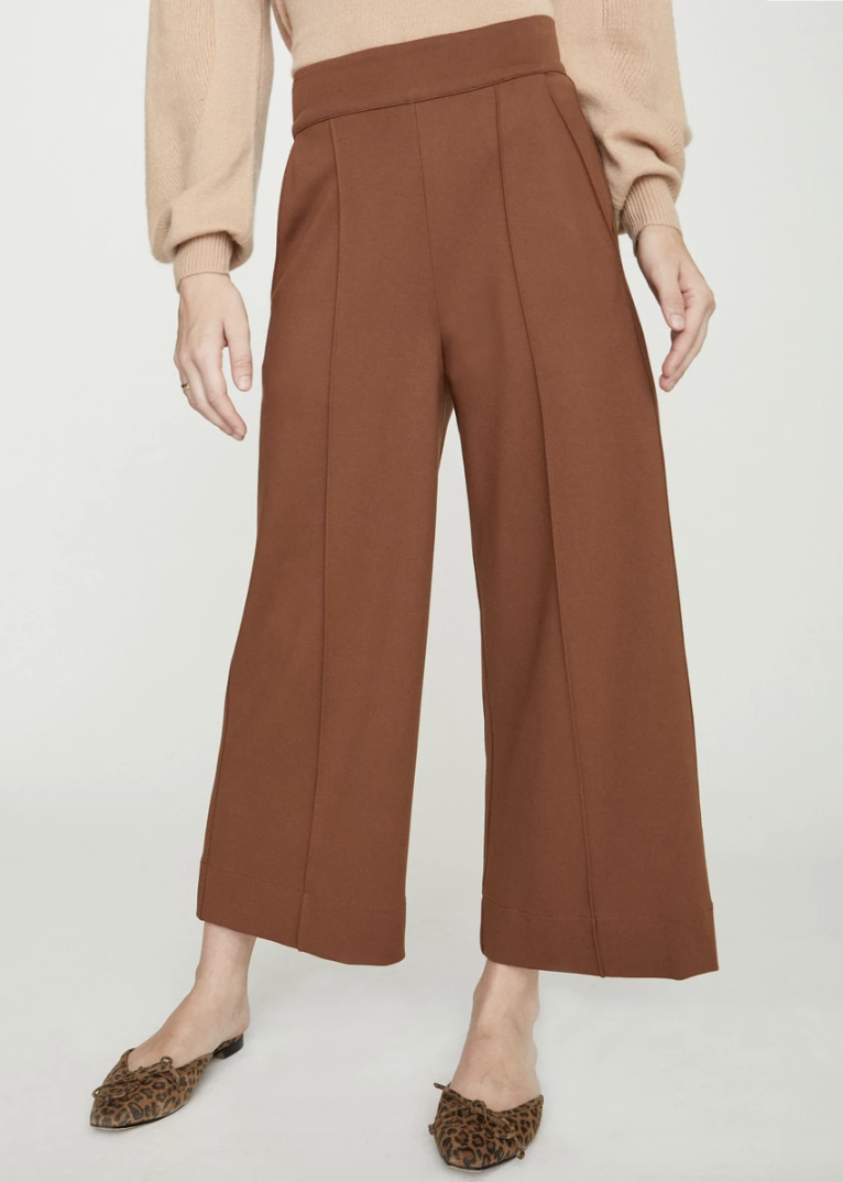 BROCHU WALKER Rhodes Wide Leg Cropped Trouser