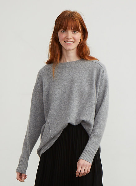 Autumn Cashmere Oversize Saddle Shoulder Crew