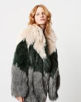 SMYTHE Faux Fur Car Coat