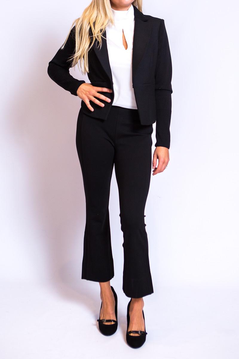 Iris Setlakwe 2 Tone Stretch Jacket With Rib
