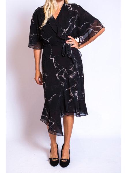 Iris Setlakwe Marble Print Wrap Dress