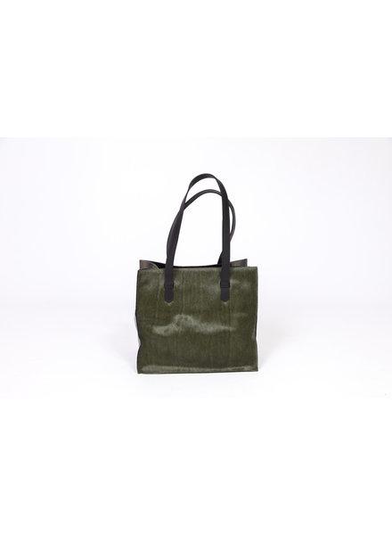 LET&HER ltd fortuny bag olive pony sides water snake