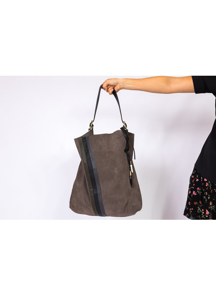 KEMPTON&CO Taupe Suede Somerset Hobo