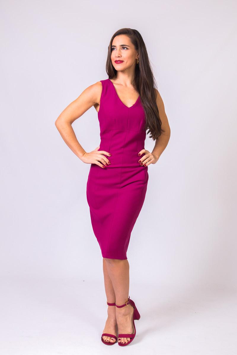 Iris Setlakwe 2 Tone Stretch Dress w/Side Peplum