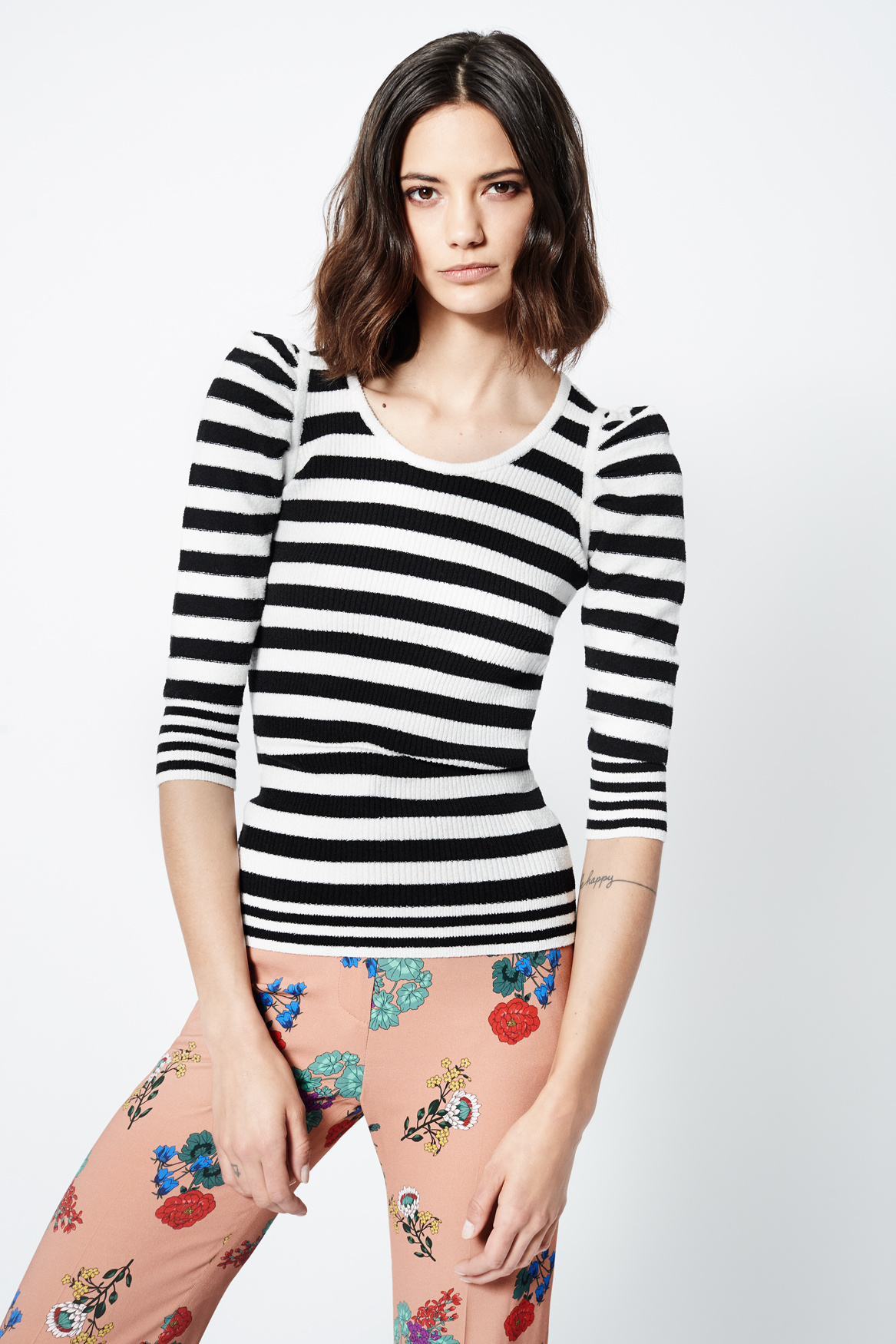 SMYTHE Puff Sleeve Sweater