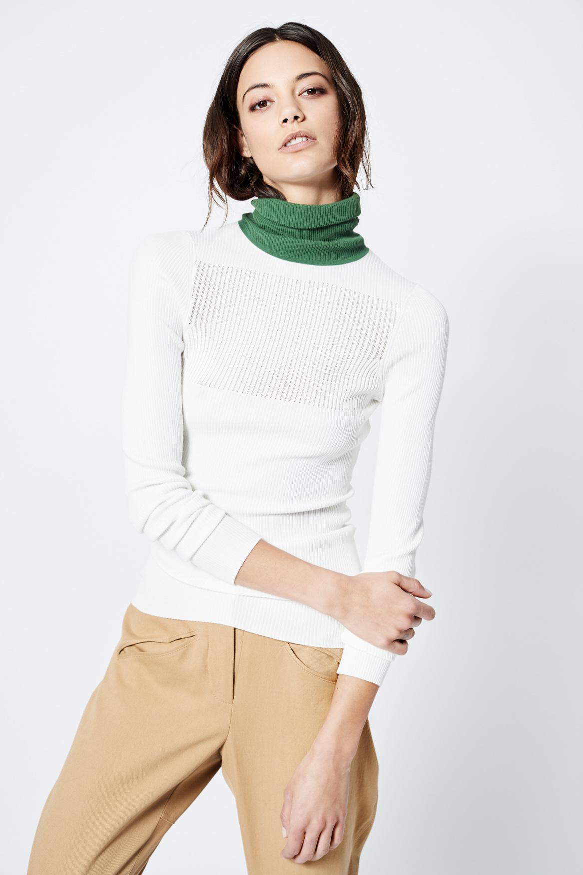 SMYTHE Turtleneck Pointelle Sweater