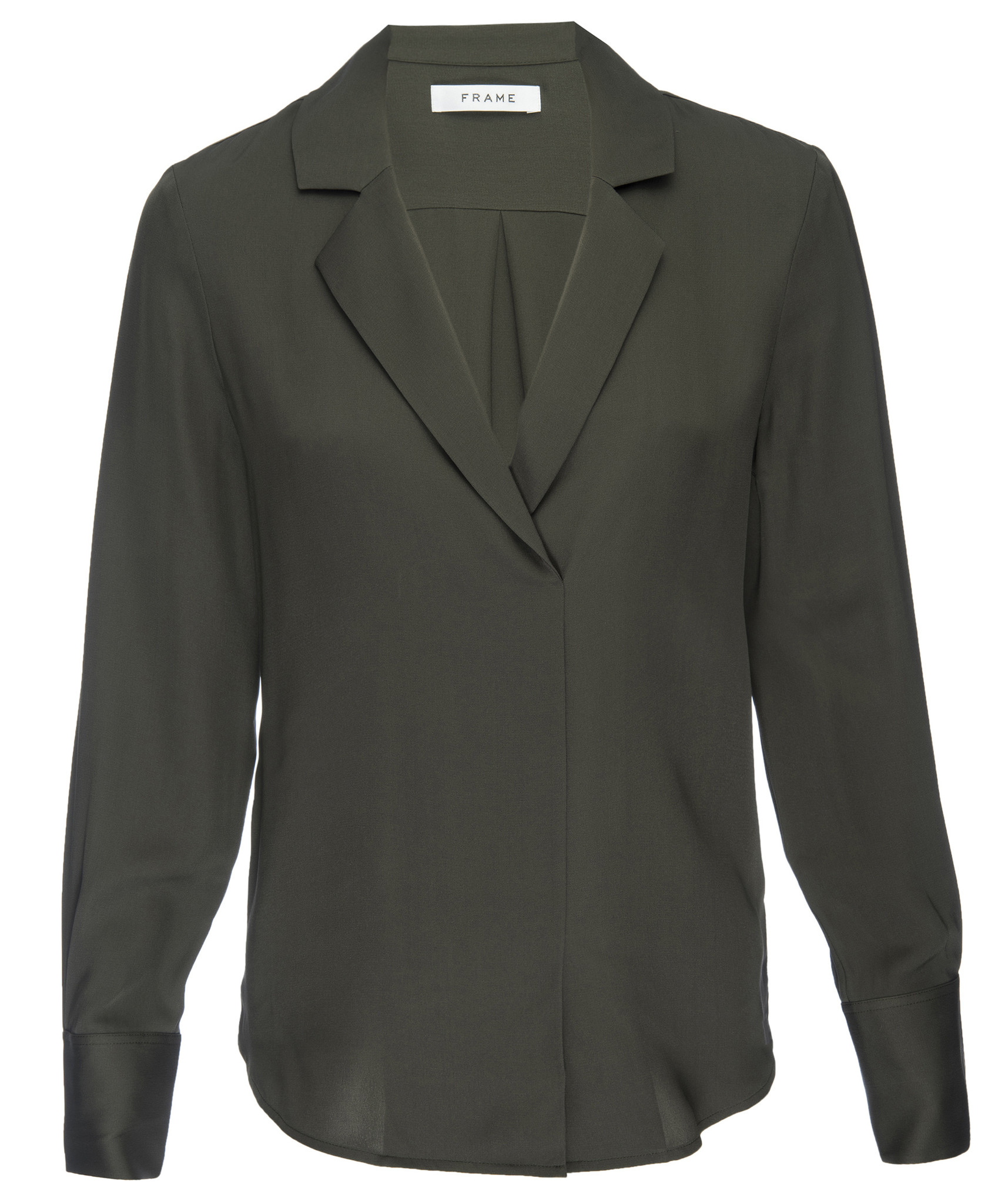 FRAME Fitted Notch Collar Blouse