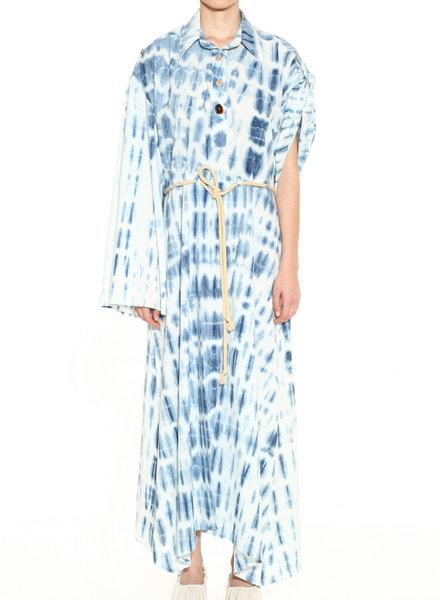 NANUSHKA Hanna Bell Sleeve Peasant Dress
