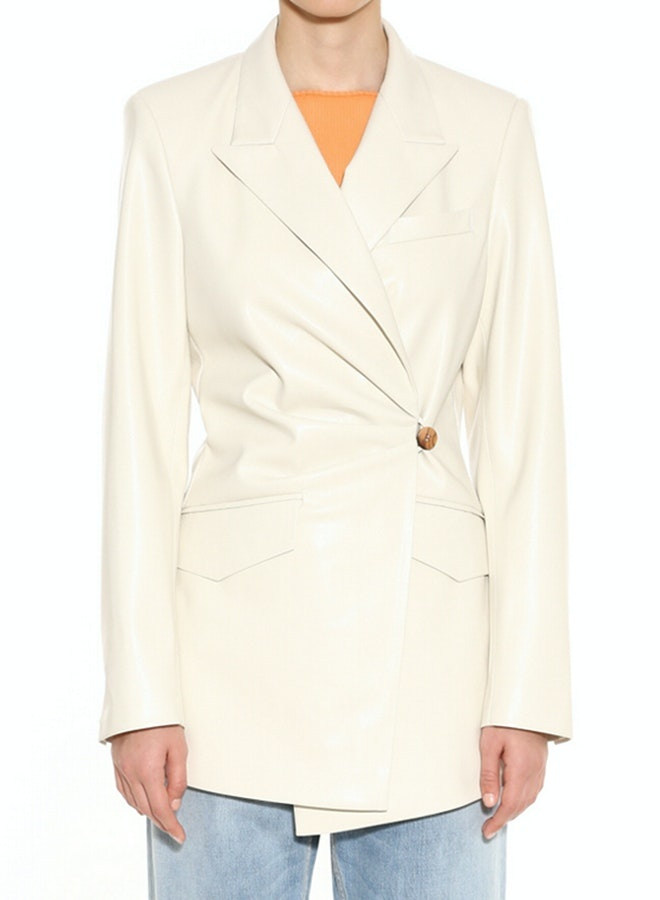 NANUSHKA Blair Deconstructed Fitted Blazer