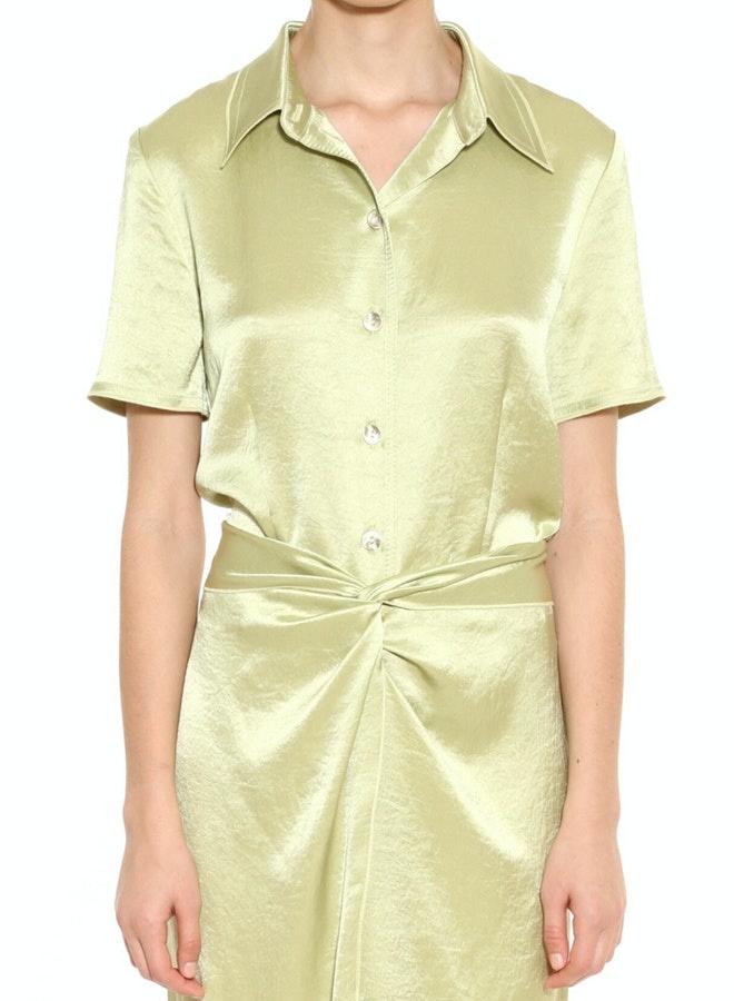 NANUSHKA Clare Fitted Short Sleeve Shirt