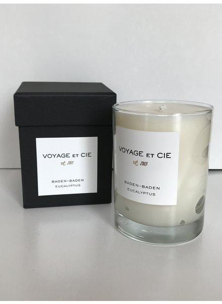 """VOYAGE ET CIE Baden Baden Eucalyptus 4"""" Highball Candle"""
