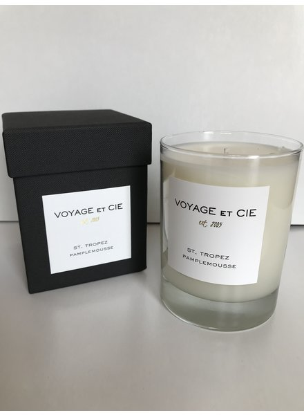 """VOYAGE ET CIE St Tropez Pamplemousse 4"""" Highball Candle"""