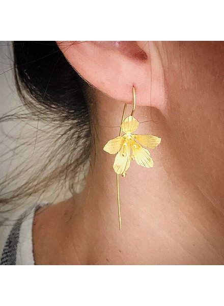 Thai Jewelry Silver/Gold Small Floral Drop