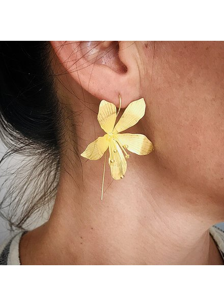 Thai Jewelry Large Floral Drops