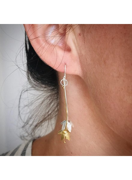 Thai Jewelry Silver/Gold Drop Floral