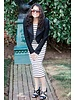 Striped Tank Dress with Cropped Jacket