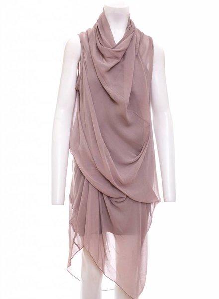 Laura Siegel Silk Drape Dress